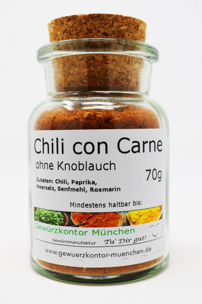 Chili con Carne o. Knoblauch 70g Glas Gewuerzkontor Muenchen