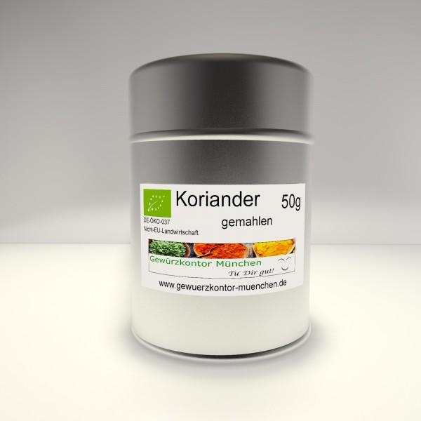 Bio Koriander gemahlen 50g im Streuer