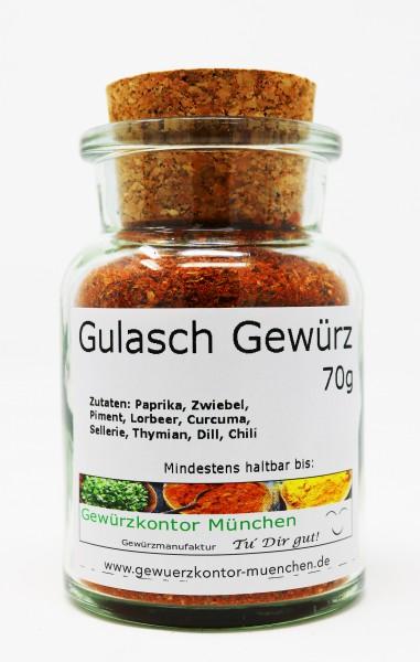 Gulasch Gewürz scharf 70g im Glas