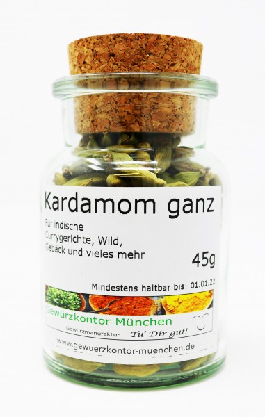 Kardamom Cardamom ganz 45g im Glas