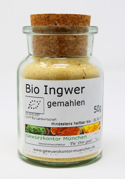 Bio Ingwer gemahlen 50g im Glas
