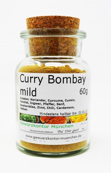 Curry bombay mild 60g Glas Gewürzkontor München