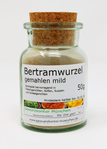 Bertramwurzel gemahlen mild 50g im Glas